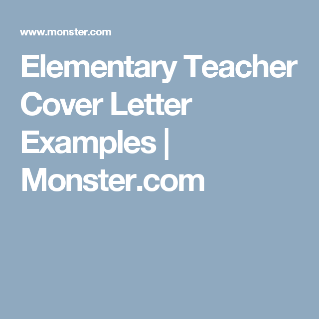 could your cover letter writing skills use some extra help if so get ideas from this sample cover letter for an elementary school teacher. Resume Example. Resume CV Cover Letter