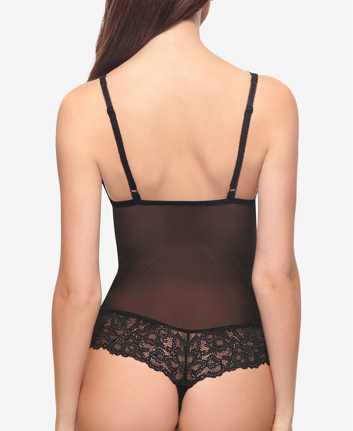521229f2bc Charming Mesh and Lace Bodysuit 936232 - Bras، Panties   Lingerie - Women -  Macy s