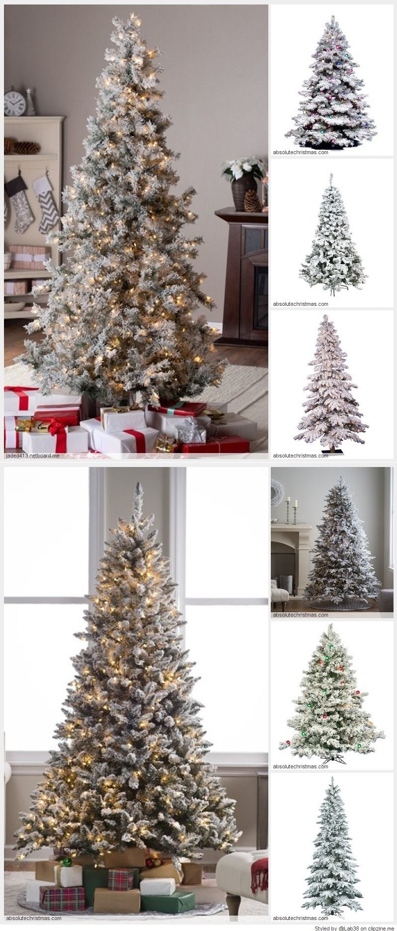 flocked fake christmas trees turn your home decor into a winter rh pinterest com