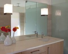 Wall Sconces Will Be Off Center From The Sink But Centered On The