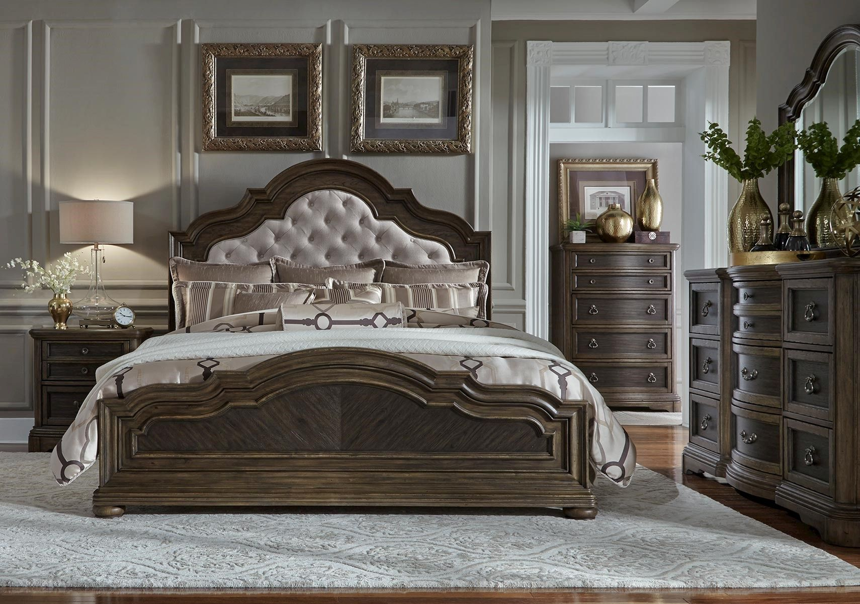 lacks valley springs 4 pc queen bedroom set rustic southwest rh pinterest cl