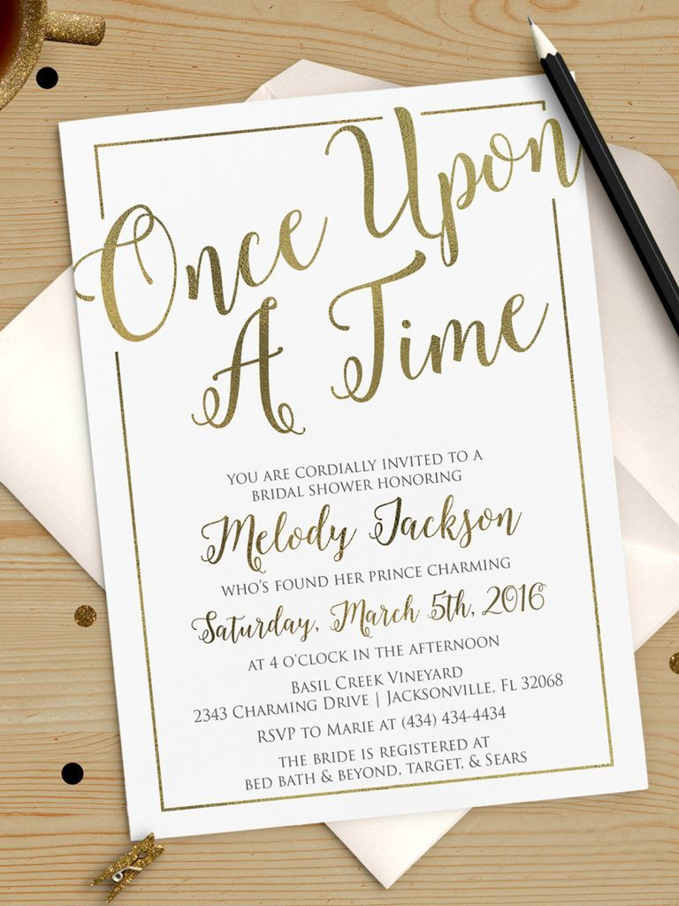Once upon A Time bridal shower invitation