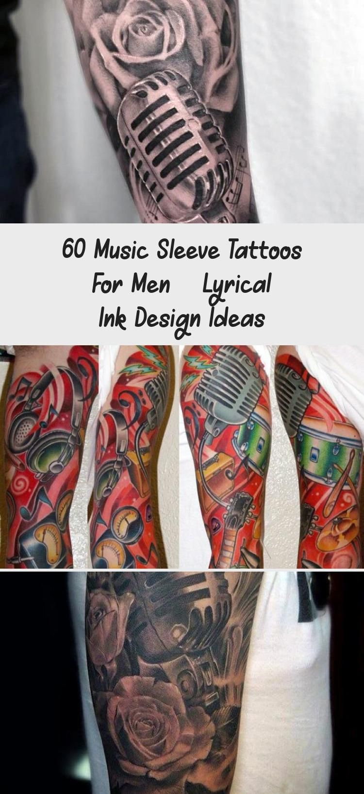 Photo of 60 Music Sleeve Tattoos For Men – Lyrical Ink Design Ideas – Tattoos