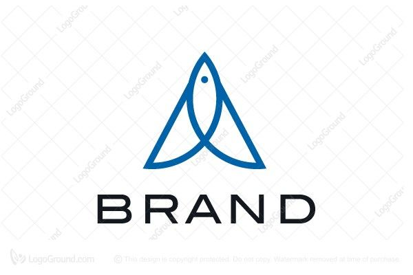 Logo For Sale Letter A Fish Logo Simple Letter A With Subtle Fish