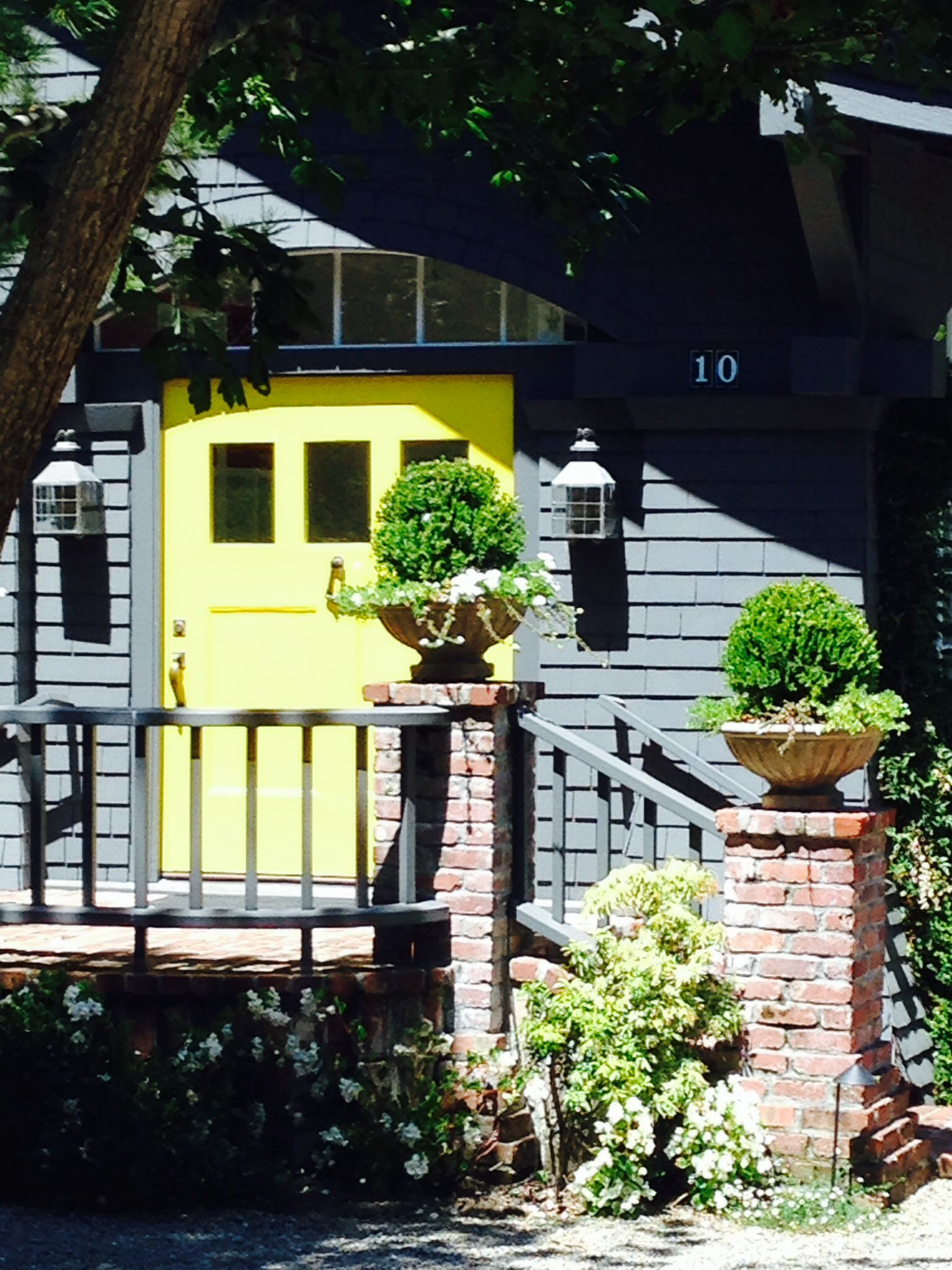 the suburban version of the canary yellow front door every man rh pinterest com au