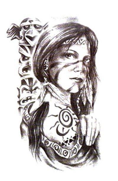 Tatouages Indiens Indiens D Amerique And Tatouages Amerindiens On