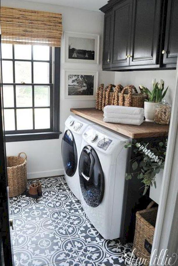 Black And White Modern Master Bathroom Ideas 24 Jpg 612 917 Laundry Room Organization Farmhouse Laundry Room Laundry Room Makeover