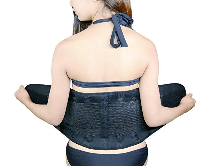 Jenx Fitness Unisex Waist Trainer Premium Quality Waist Trimmer Great Back Spine Support and Reduce Back Pain at Amazon Women's Clothing store:
