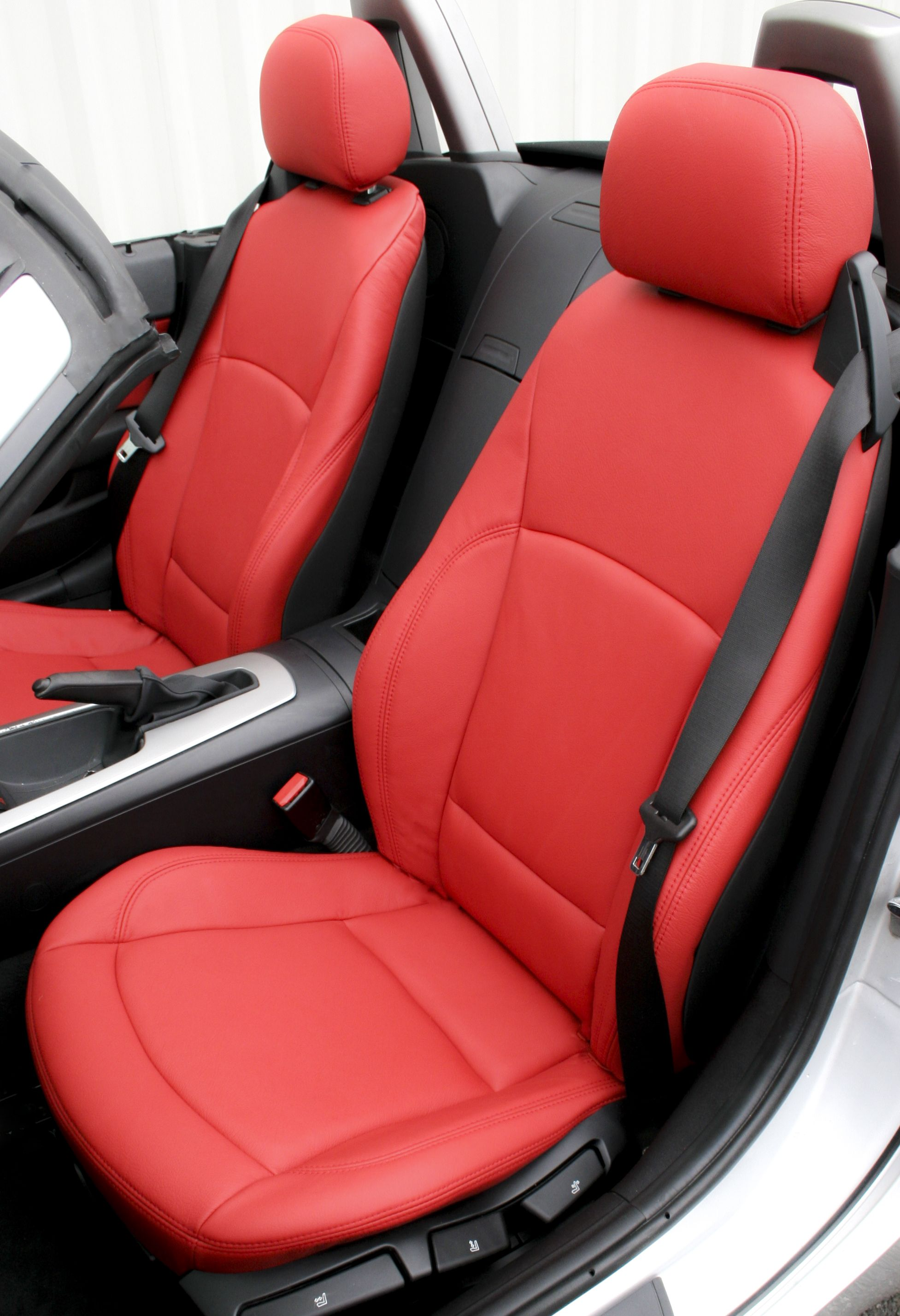 A Bmw Z4 Roadster With Red Leather Seats Designed Manufactured