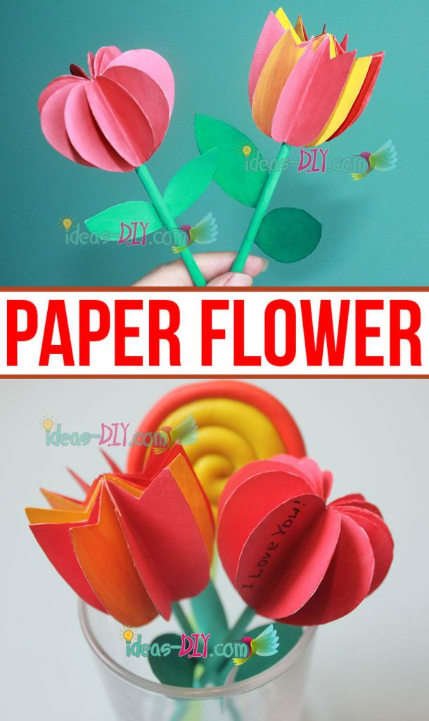 DIY Paper Flower — Creative DIY Ideas, Crafts & Decor Projects #constructionpaperflowers