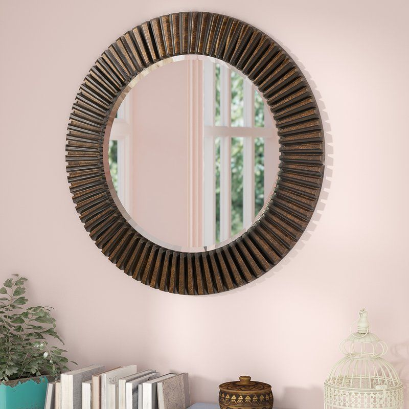 round eclectic accent mirror in 2019 mom dads house mirror rh pinterest com