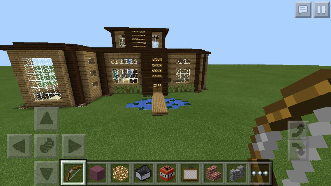 modern wooden house two storey minecraft minecraft pinterest rh pinterest com