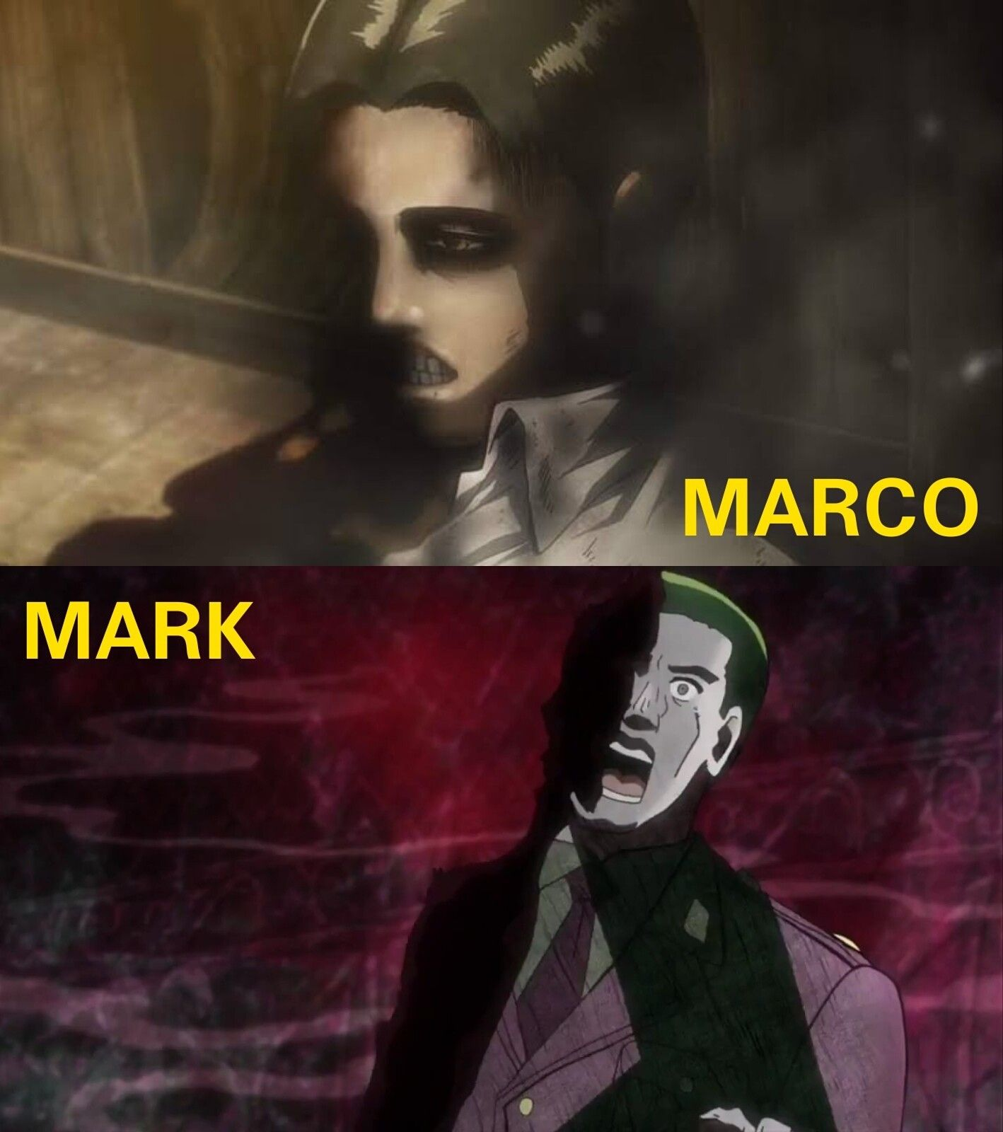 Marco (Attack on Titan) and Mark (JoJo's Bizarre Adventure