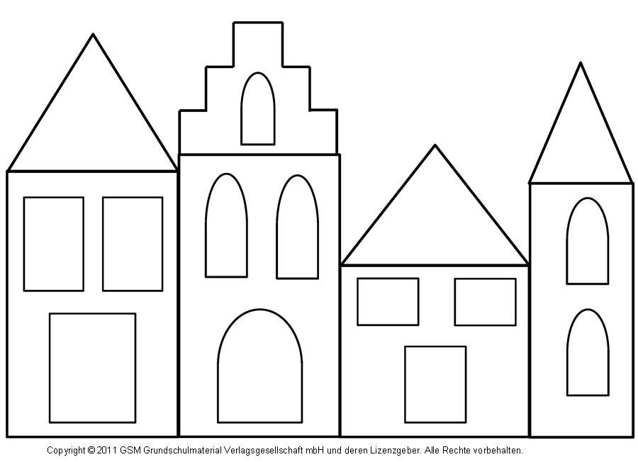 fensterbild h user mit transparentpapier 2. Black Bedroom Furniture Sets. Home Design Ideas