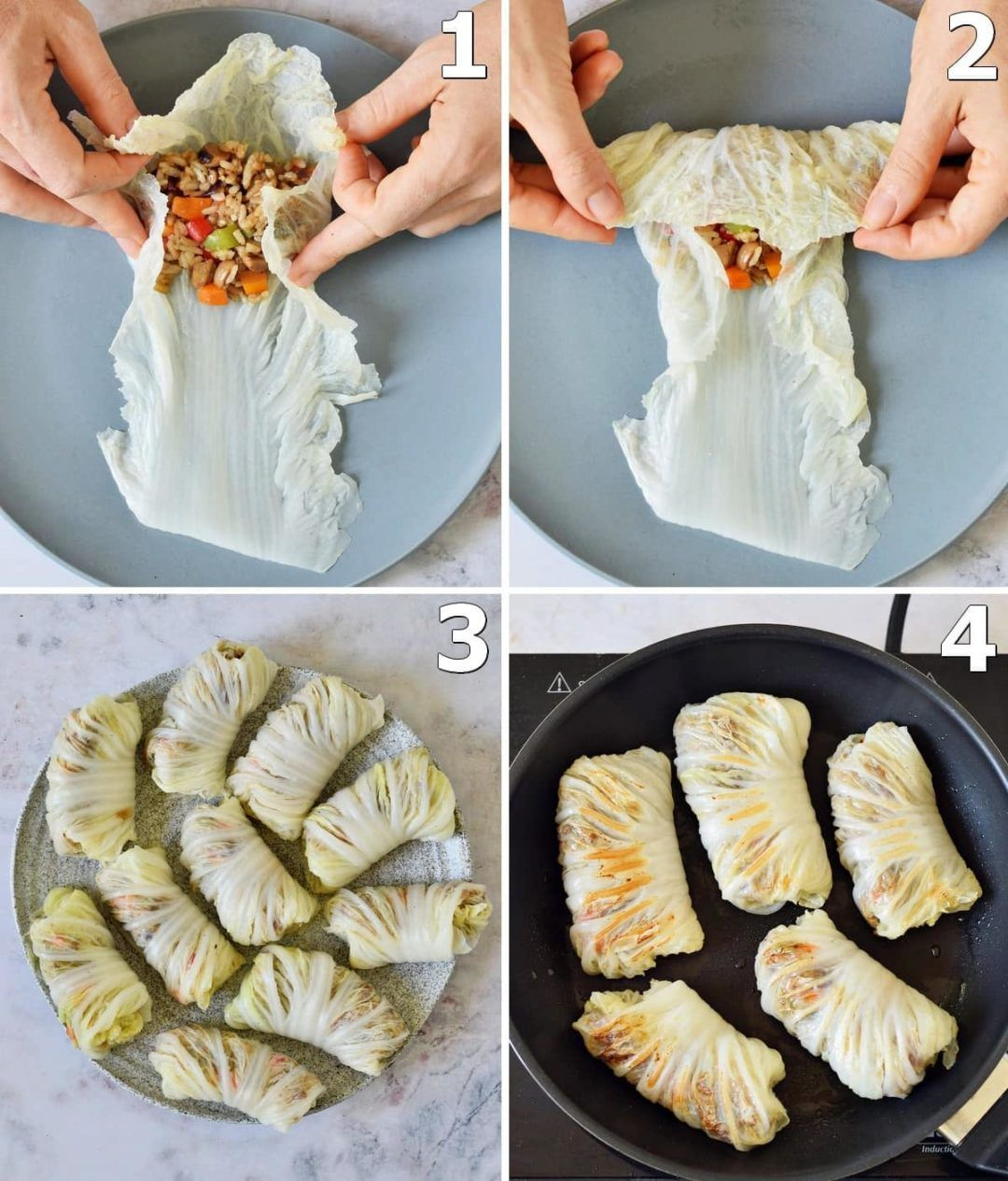 Vegan Cabbage Rolls | Asian-Inspired Wraps - Elave