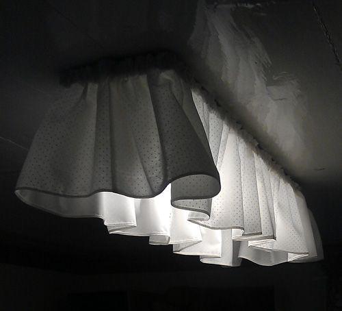 sew a shade for an ugly fluorescent light fixture love this idea rh pinterest com