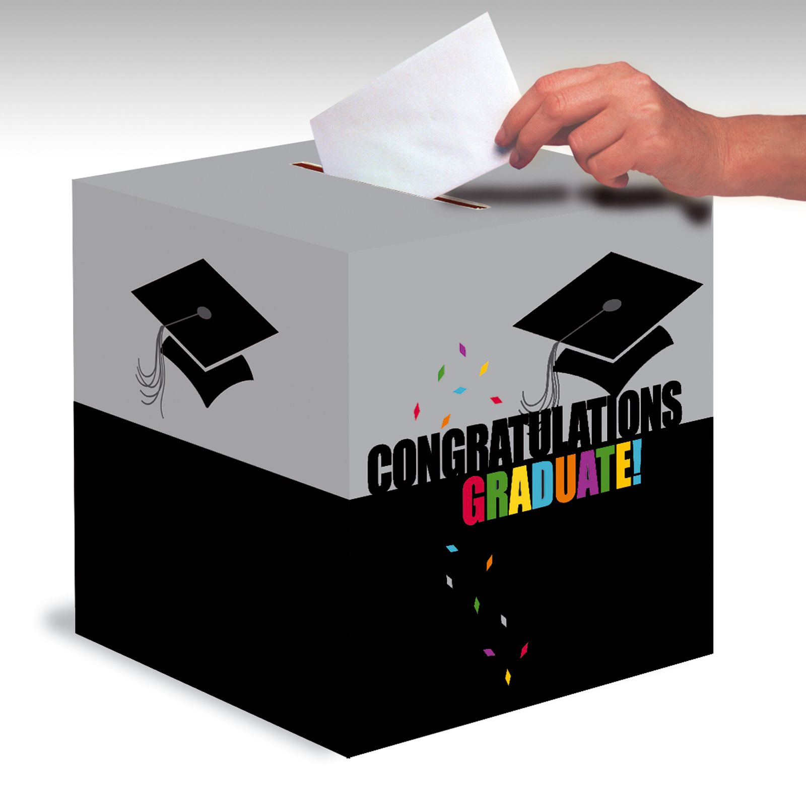 Grad style graduation card box thepartyworks