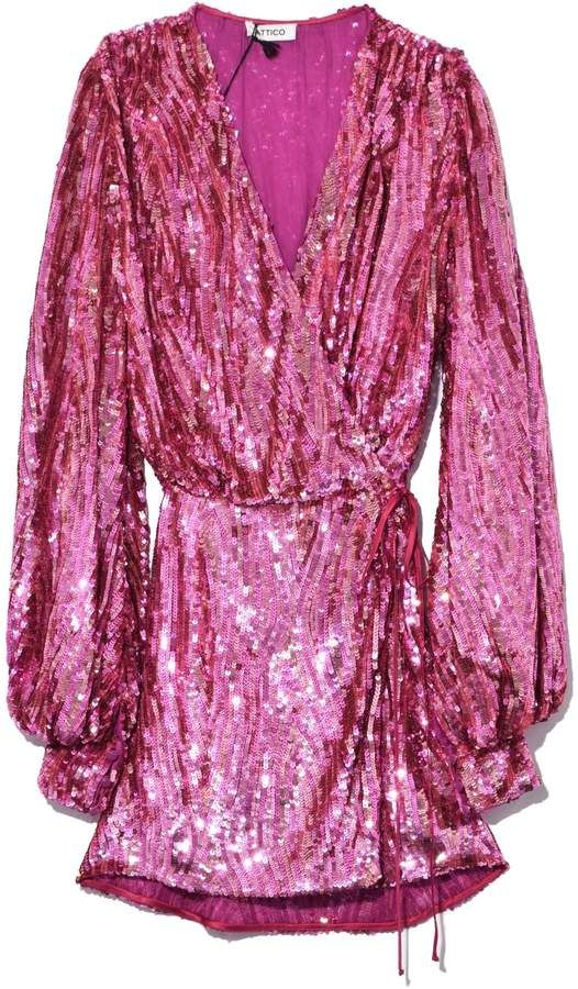 402004e9e40fd ATTICO All Over Sequins Dress in Pink in 2019 | Products | Pink ...