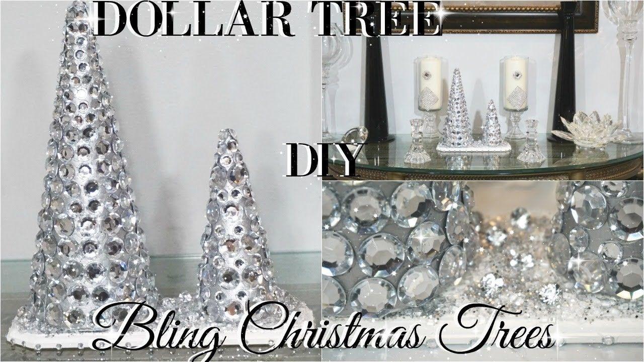 DIY DOLLAR TREE GLAM CHRISTMAS TREES | diy christmas decorations ...