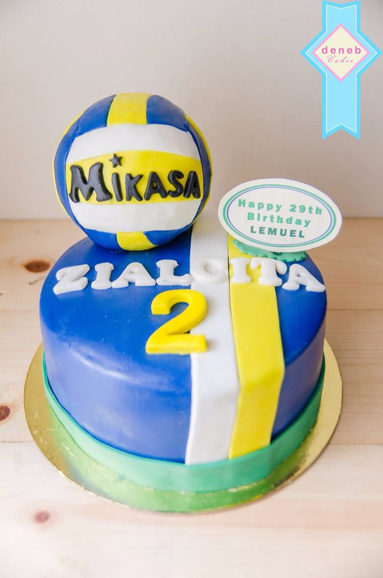 For A Voleyball Player The Jersey Cake With Volley Ball Volleyball Cakes Cake Cupcake Cakes