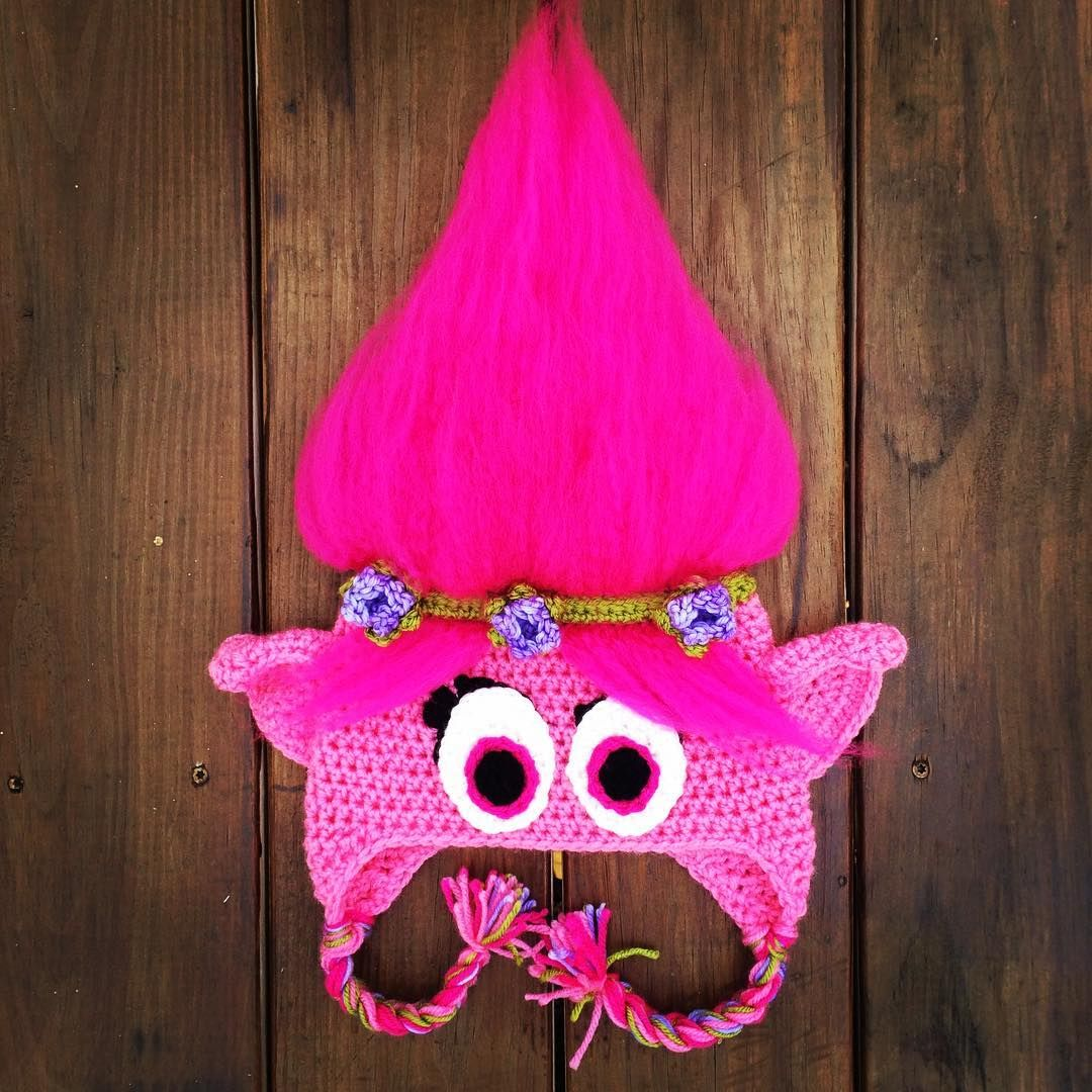 Crocheted Dreamworks Trolls Poppy Hat Free Pattern by Just Crafting Around 0c3d92962e1