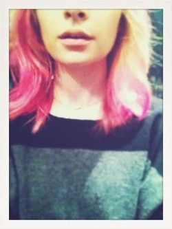 nicole richie pink ombre