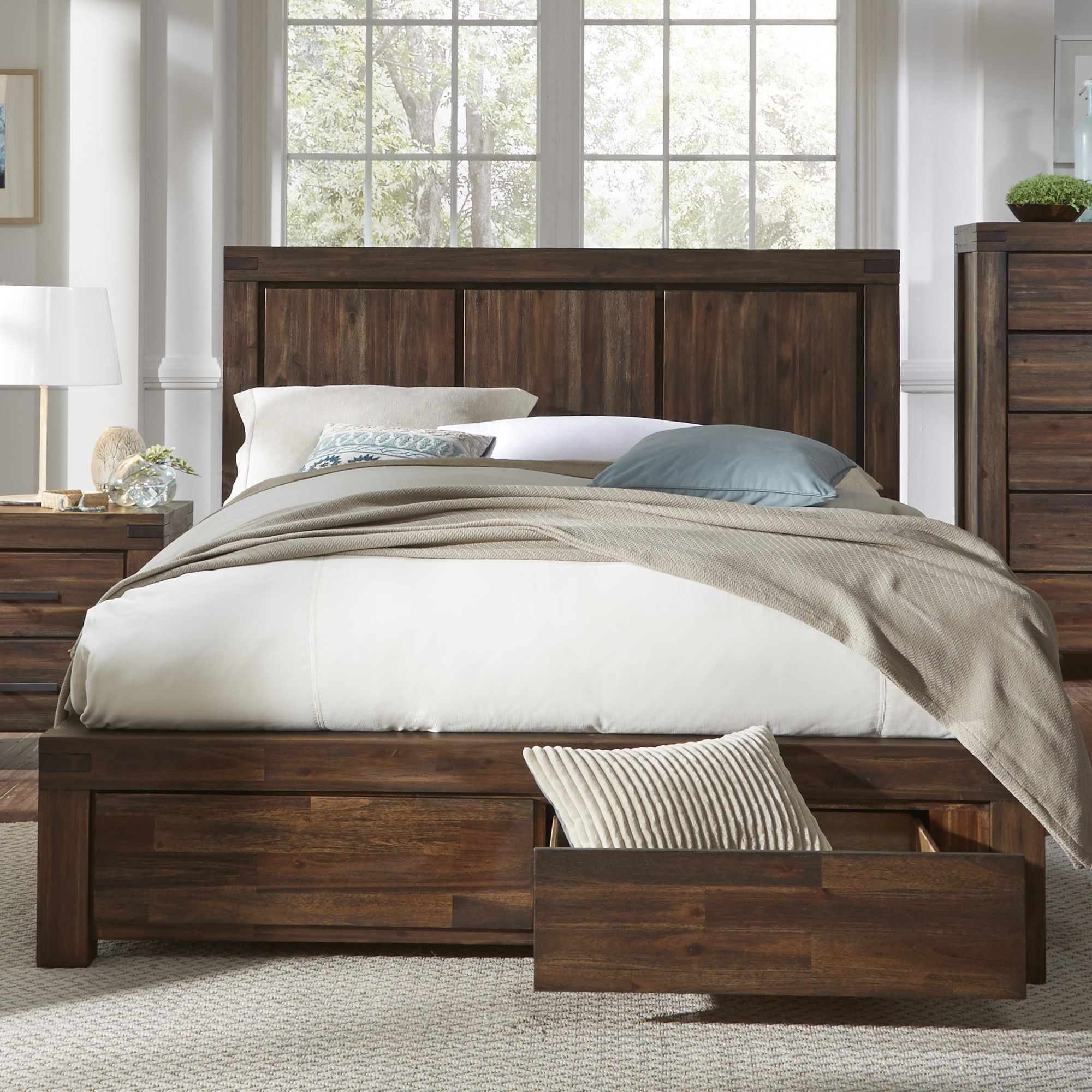 Palo Alto Storage Panel Bed Products Pinterest Bed Bed