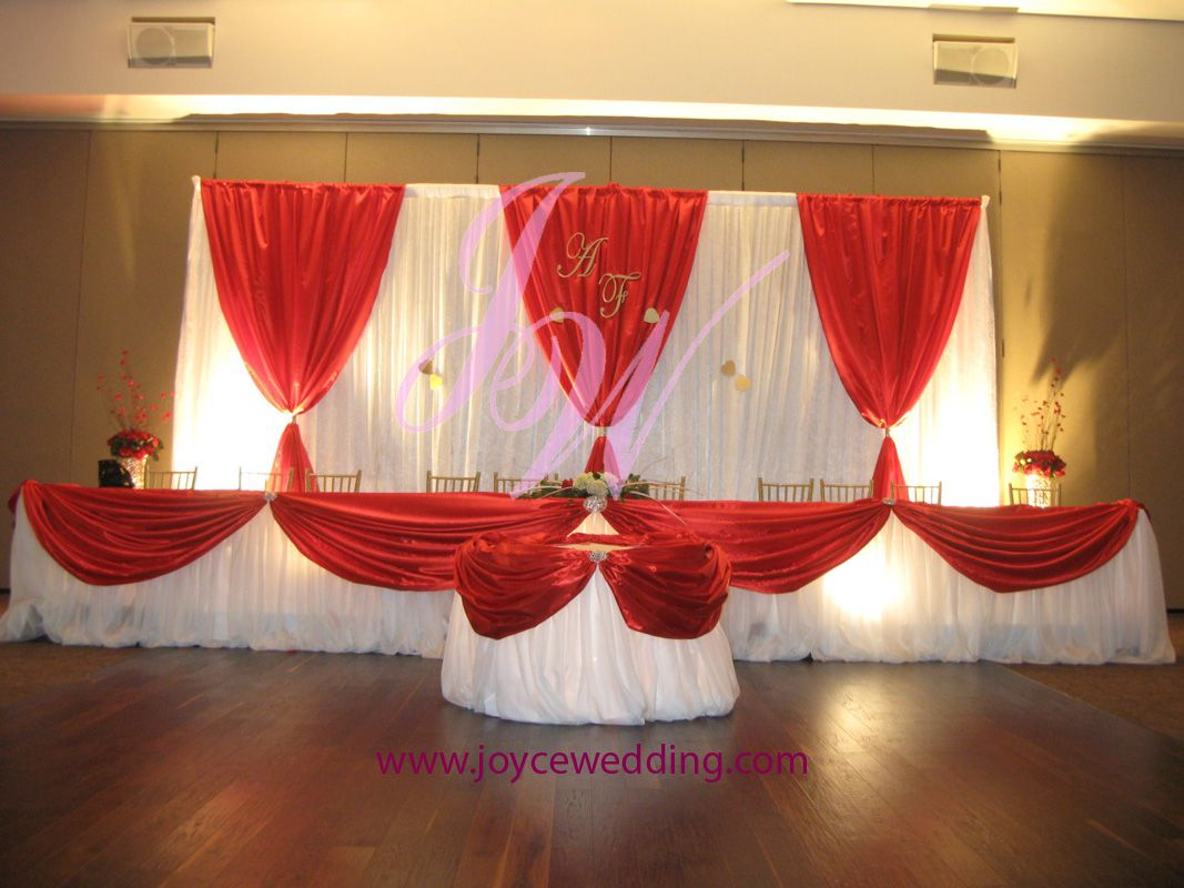 red gold and white wedding ideas%0A  Stain  red and  white  backdrop and  table  decors  Gold BackdropBackdrop  IdeasHead Table BackdropBackdropsWedding