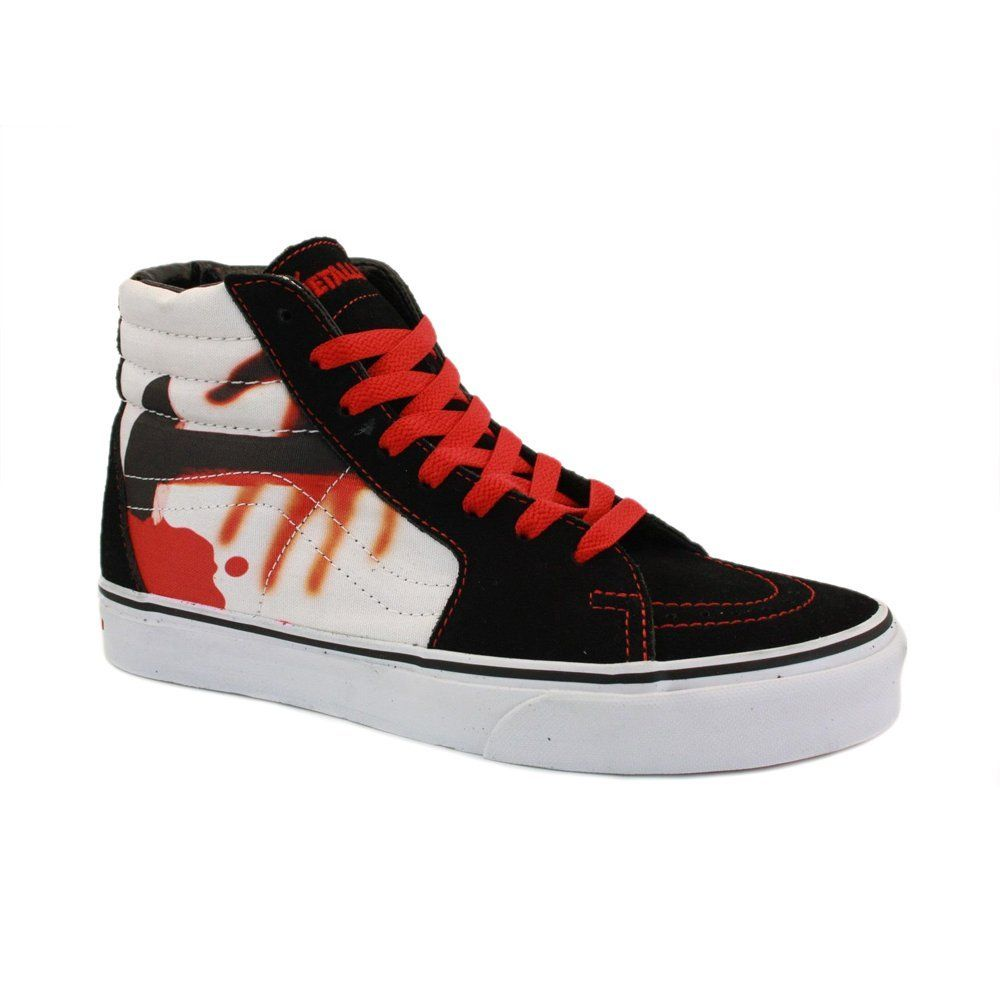 618b4a8765 Vans vs Metallica Sk8-Hi KYA7LQ Womens Laced Suede   Canvas Trainers   Amazon.co.uk  Shoes   Bags