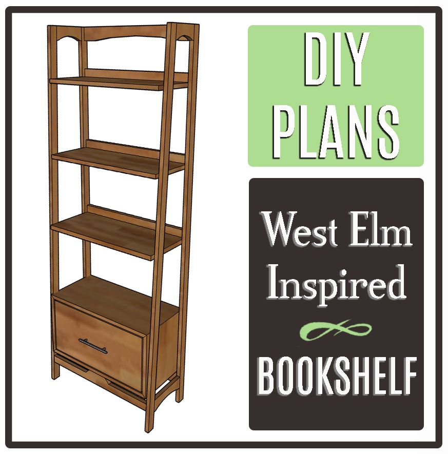 diy plans for west elm inspired bookshelf building with wood rh pinterest com