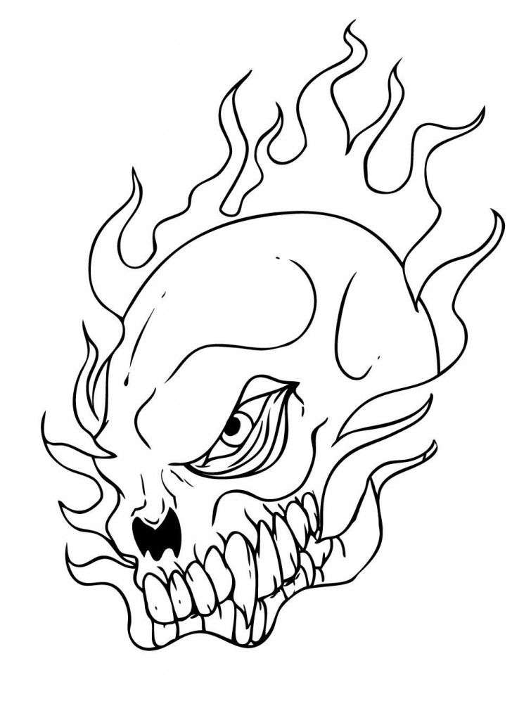 Free Printable Skull Coloring Pages For Kids Skull