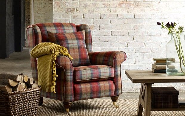 Attractive Cosy: This BHS Armchair Is Upholstered With Woven Wool Tartan Made At A  Family