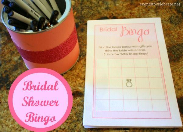 Bridal Shower Bingo Free Printable Eventstocelebrate