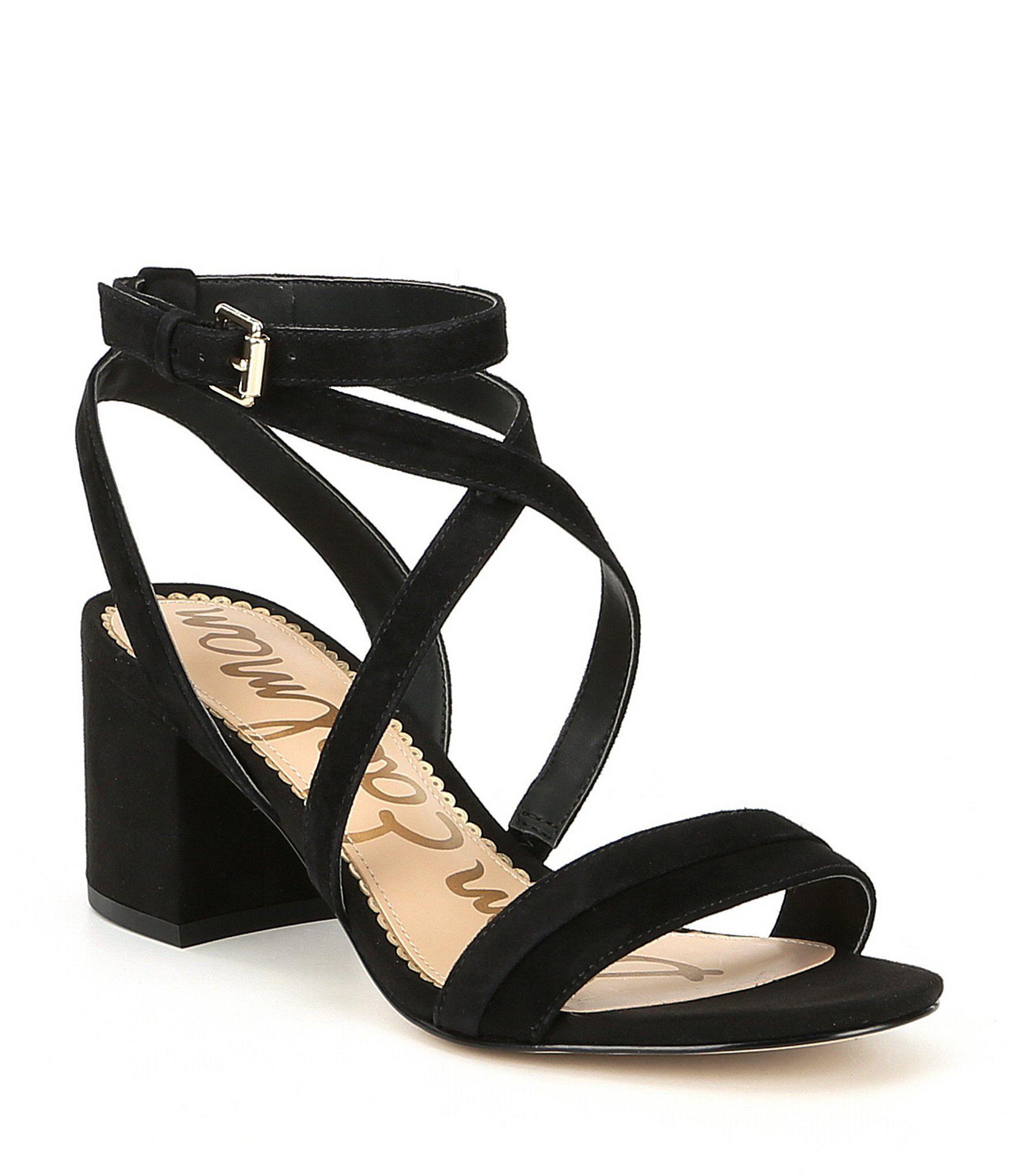 8fd45fdc214 Shop for Sam Edelman Sammy Suede Ankle Strap Block Heel Dress Sandals at  Dillards.com. Visit Dillards.com to find clothing