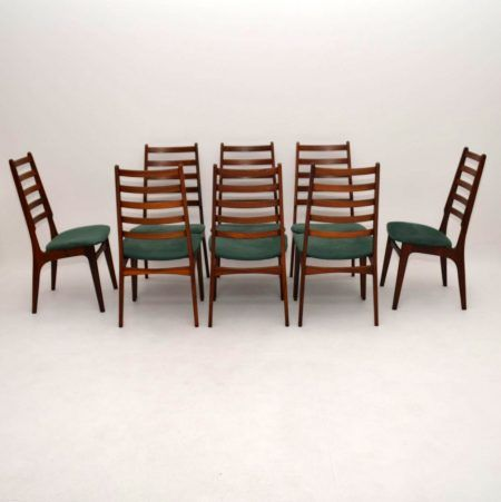 set of 8 danish rosewood suede dining chairs vintage 1960 s a rh pinterest com