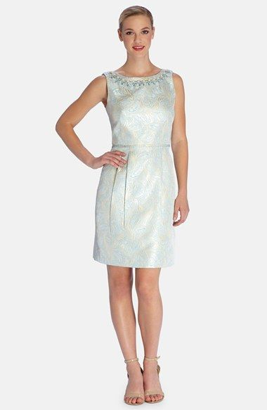 d412486f Tahari Embellished Jacquard Sheath Dress (Regular & Petite) available at # Nordstrom. This dress looks way better on me than on the model!