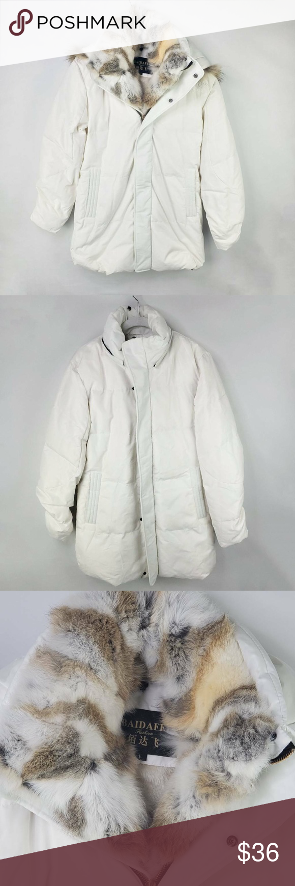 Baidafei Womens Puffer Jacket White Fur Lined Hood Puffer Jacket Women Puffer Jackets Jackets [ 1740 x 580 Pixel ]