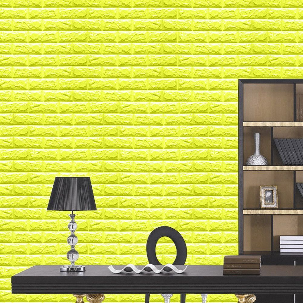 Brick Design Foam Wall Stickers 3D Wallpaper DIY Home Wall ...
