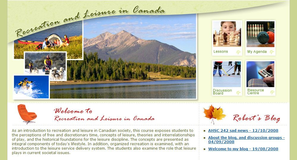 An Introduction To Recreation And Leisure In Canadian - Online College Courses Quebec