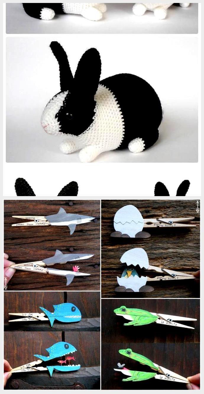 Amazon.com: Knitted little Dutch rabbit, greystone and cream: Handmade    Einfache strickprojekte, Freie strickmuster, Strickpuppen   1330x690