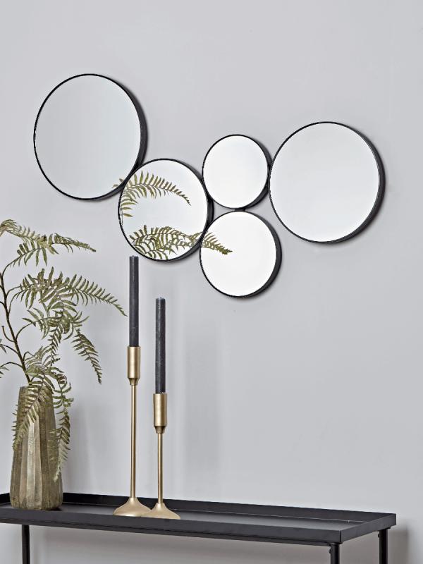 New Black Circles Decorative Mirror Wall Mirrors Mirrors Mirrorsuk Roundmirrors Mirro Mirror Decor Living Room Mirror Design Wall Mirror Wall Living Room