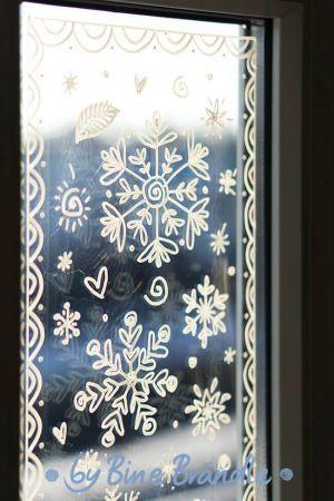 Vorlagenmappe Fröhliche Weihnachten - Bine Brändle #fensterdekoweihnachten