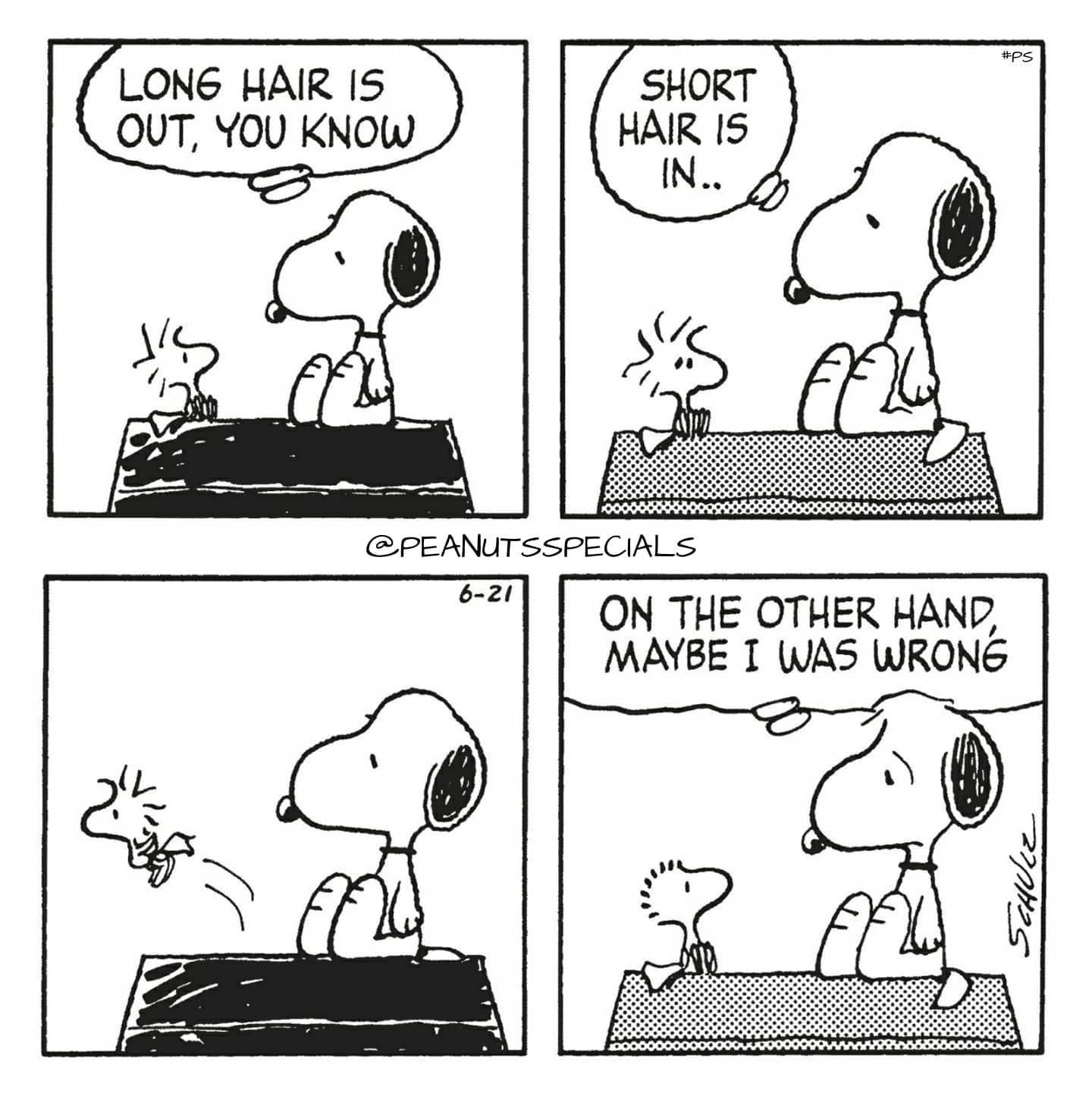 First Appearance June 21 1986 Snoopy Woodstock Longhair Long Hair Is Out Youknow Shorthair Short In On The Otherhand Other Hand Maybe I Was V 2020 G