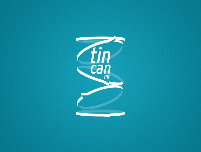 Proposed logo design for Tin Can PR