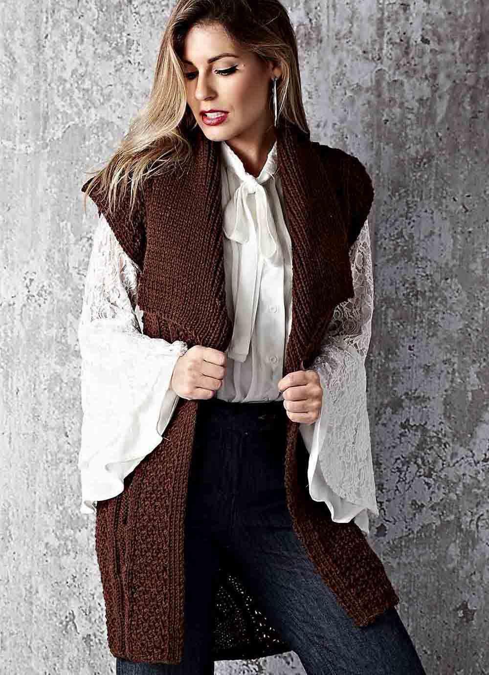 жилетка женская длинная фото вязание авангарде оценили возможное