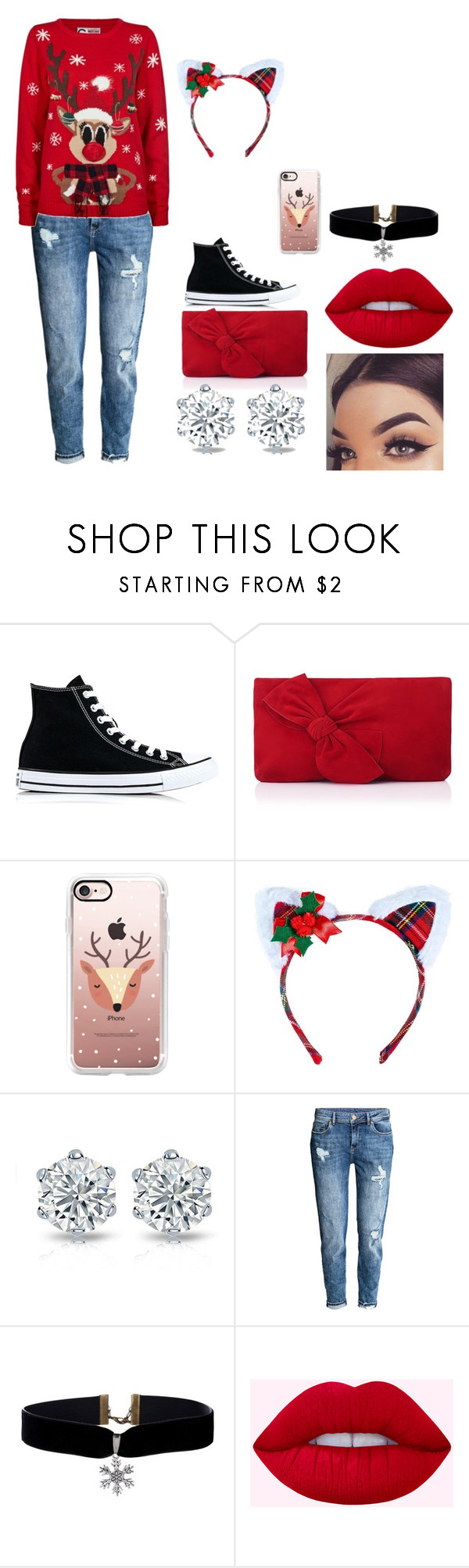 """""""Christmas stuff"""" by chassandraward ❤ liked on Polyvore featuring Converse, L.K.Bennett, Casetify and Leg Avenue"""
