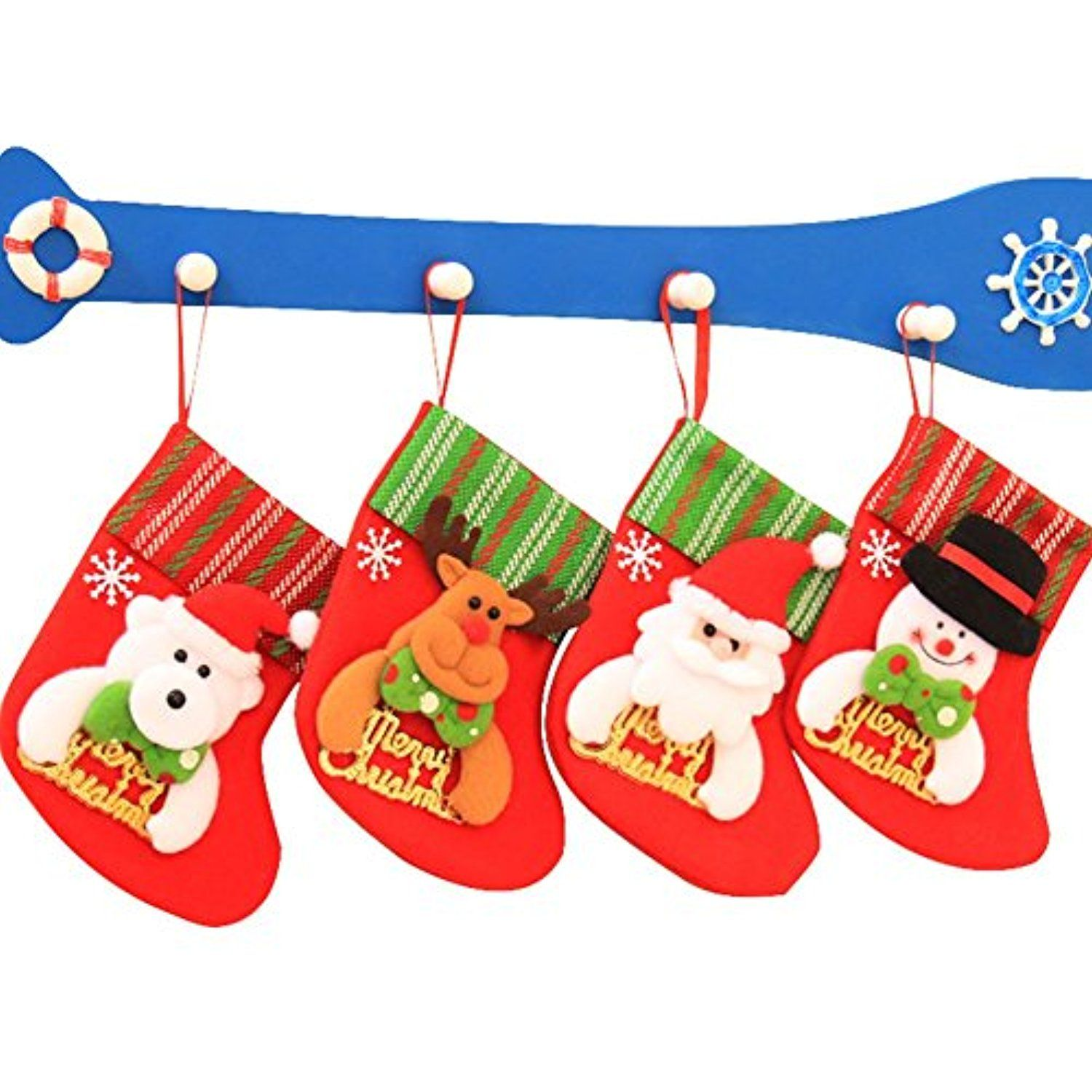 Christmas Stockings Socks for Kids - Christmas Tree Decoration ...