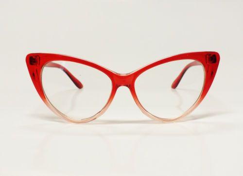 VINTAGE CAT EYE DAMEN BRILLE Sonnenbrille Retro Glasses 50er 60er Katzenaugen IOn9szs