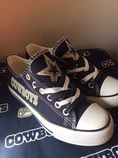 130cbc2c52a182 Dallas Cowboys women s tennis shoe s by sportshoequeen on Etsy