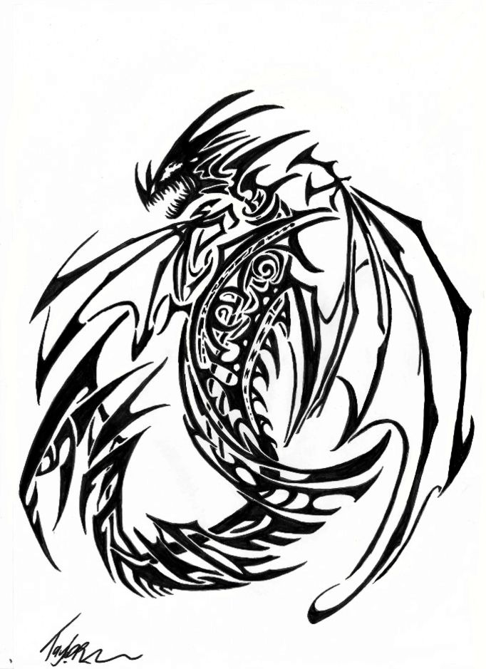 Tribal dragon 06